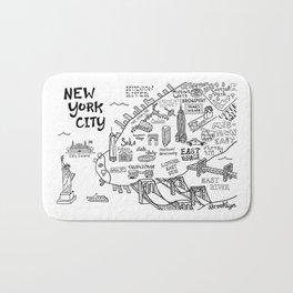 New York City Map Bath Mat