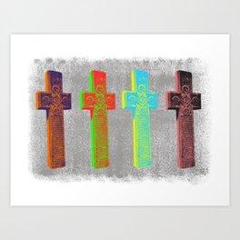Romanian Crosses Art Print