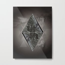 Diamon Abstract in Nature Metal Print