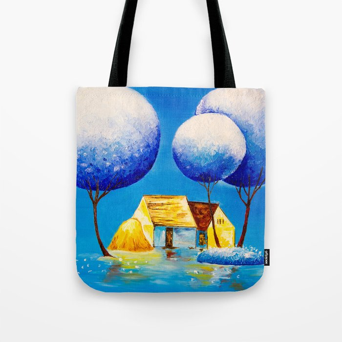 Fairy village Tote Bag