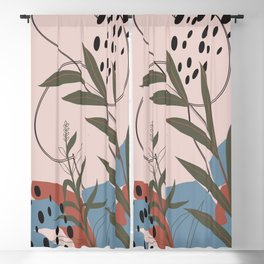 mid centuary modern south western abstract Blackout Curtain