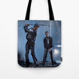 Tyler Durden and the Narrator - Golfing Buddies - Fight Tote Bag