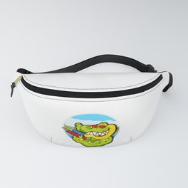 Alligator Ready To Get Soaking Fun For Summer Water Play Fanny Pack
