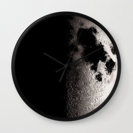 Half Moon Poster, Moon Art Print, Square Moon Print, Wall Art, Home Decor, Luna Poster, Moon Print, Lunar Moon Print, Luna Moon, First Quarter Moon, Black and White, First Quarter Moon Art Print, Moon Phase Wall Clock