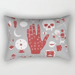 Methods of Divination - Gray & Red Rectangular Pillow