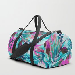 Colorful tropical leaves Duffle Bag
