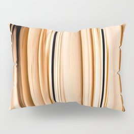 wooden abstract striped pattern Pillow Sham