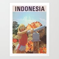 indonesia Art Prints featuring Indonesia  by Mariano Peccinetti