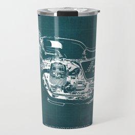 2010 Moto Guzzi V7 Clubman Racer green blueprint Travel Mug