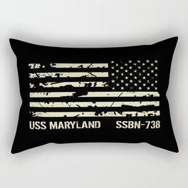 USS Maryland Rectangular Pillow