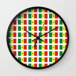 Flag of senegal – senegalais,senegalaise,senegalese,dakar,wolof. Wall Clock