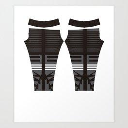 leggings pants vector illustration Art Print