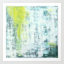 Flowing Green Art Print