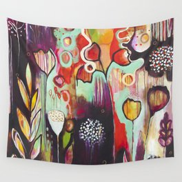 """Release Become"" Original Painting by Flora Bowley Wall Tapestry"