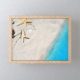 Beach Shore Scene Framed Mini Art Print