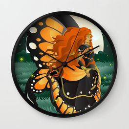 magical butterfly fairy in the nature Wall Clock