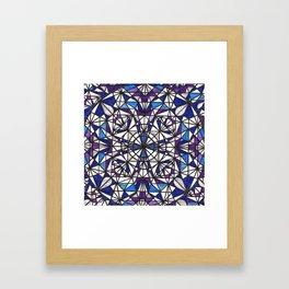 Blue purple dreams Framed Art Print