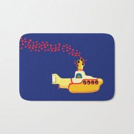 Yellow Submarine Bubbling Love Bath Mat
