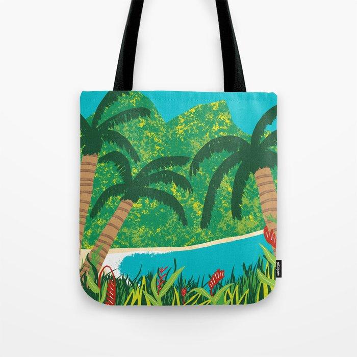 Tropical Island Getaway Tote Bag