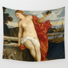"""Titian (Tiziano Vecelli) """"Sacred and Profane Love"""" (2), 1515-1516 Wall Tapestry"""