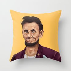 Hipstory -  Abraham Lincoln Throw Pillow