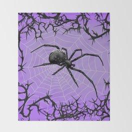Briar Web- Purple Throw Blanket
