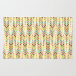 Colorful abstract modern geometrical chevron pattern Rug
