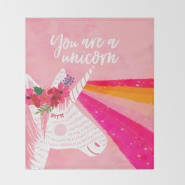 You are a unicorn Throw Blanket