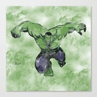 hulk Canvas Prints featuring Hulk by DanielBergerDesign