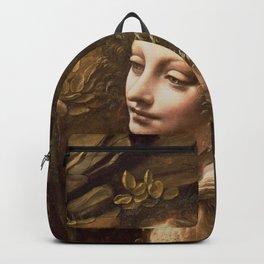"Leonardo da Vinci ""The Virgin of the Rocks (London)"" Angel Backpack"