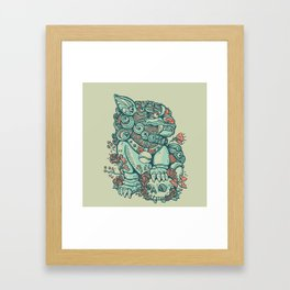 Chinese Guard Dog Framed Art Print
