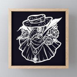 Plague Doctor Framed Mini Art Print