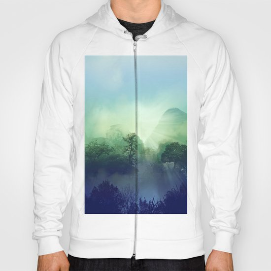 tropical green forest Hoody