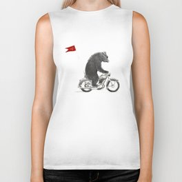 Motorcycle Bear Biker Tank