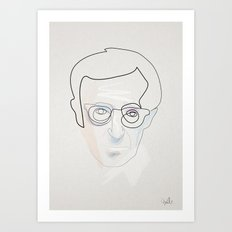 One line Woody  Art Print