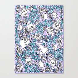 Tea Time Purple Canvas Print