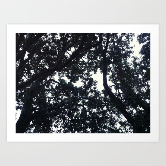 Under the trees Art Print