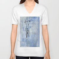 rat V-neck T-shirts featuring Rat by Michael Shepherd