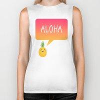 aloha Biker Tanks featuring Aloha by Elisabeth Fredriksson
