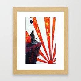 samurai sunrise Framed Art Print