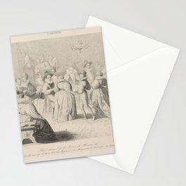 Clouet Francois  ArtiBal donne a la cour de Henri III a loccasion du mariage dAnne duc de Joyeuse avec Marguerite de Lorraine Septemb Stationery Cards