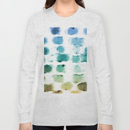 On the Beach Watercolor Painting Abstraction Long Sleeve T-shirt