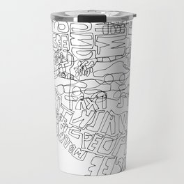 New York in one line Travel Mug