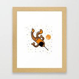 cosmonaut in space Framed Art Print