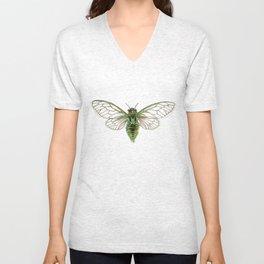 Green Cicada Unisex V-Neck