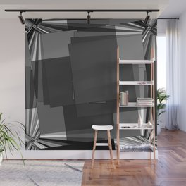 Rotated Rectangles Wall Mural
