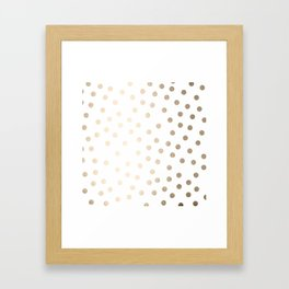 Simply Dots in White Gold Sands Framed Art Print