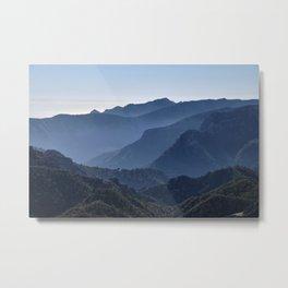 Foggy mountains. Almijara Natural Park Metal Print