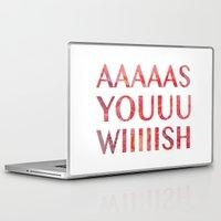 princess bride Laptop & iPad Skins featuring As You Wish Princess Bride by FayeJay