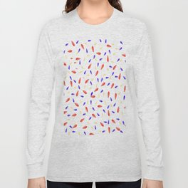 Multi-Colored Leaves Pattern Long Sleeve T-shirt
